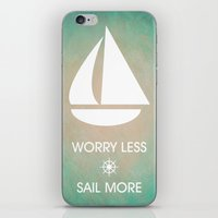Worry Less Sail More iPhone & iPod Skin