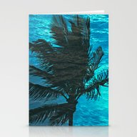Swimming Palm Stationery Cards