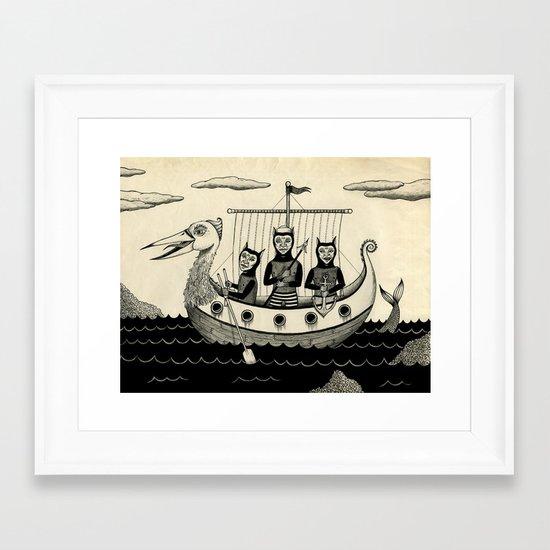 The Harpooners  Framed Art Print