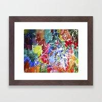 Color Collision Framed Art Print