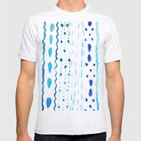 Dot Dash Dot Mens Fitted Tee Ash Grey SMALL