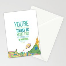 YOUR MOUNTAIN IS WAITING.. DR. SEUSS, OH THE PLACES YOU'LL GO  Stationery Cards