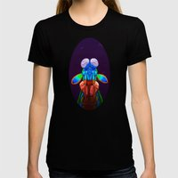 Intense Mantis Shrimp Womens Fitted Tee Black SMALL