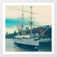 Old Ship Art Print
