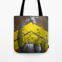 Giraffe Up! Tote Bag
