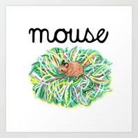 Theatre Mouse Art Print