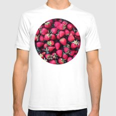 Summer Strawberries Mens Fitted Tee White SMALL