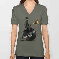 Music Man (Green Option) Unisex V-Neck