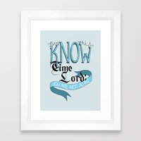 You Are Not Alone Framed Art Print