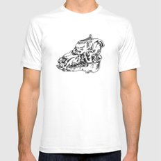 Pig Skull SMALL Mens Fitted Tee White