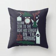 Peter Pan- Second Star T… Throw Pillow