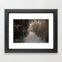 A Winter Walk In Kent Framed Art Print