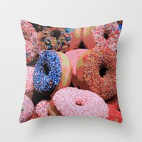 Donuts - JUSTART © Throw Pillow