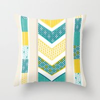 Sunshine Chevron Throw Pillow