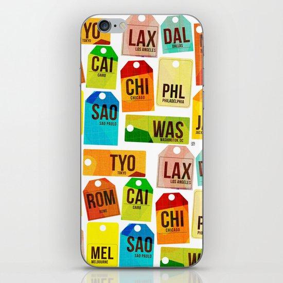 Travel Tags iPhone & iPod Skin