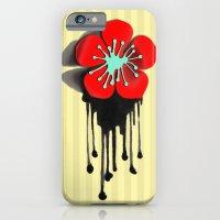 Red and Aqua Atomic Flower iPhone 6 Slim Case