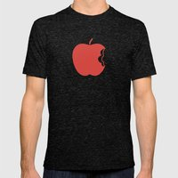 Apple 30 Mens Fitted Tee Tri-Black SMALL