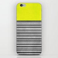 Yellow Gray Stripes iPhone & iPod Skin