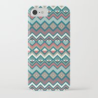 aztec iPhone & iPod Cases featuring Aztec. by Priscila Peress
