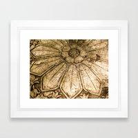 Stoned Garden Relic Framed Art Print
