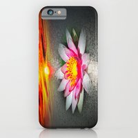iPhone Cases featuring Wellness Water Lily 5 by Walter Zettl