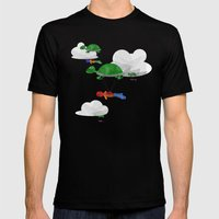 Paraturtle Mens Fitted Tee Black SMALL
