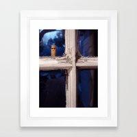 Peeping Cigarette Framed Art Print
