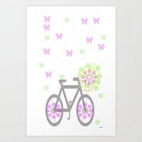 happy byke Art Print