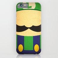 iPhone & iPod Case featuring Minimal Luigi by Shawn P Cowan