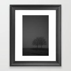 It was a dark and foggy night... Framed Art Print