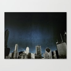 Chi town towers and midnight Canvas Print