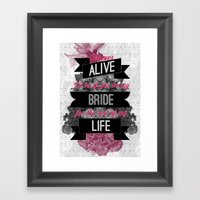 Be My Bride Framed Art Print
