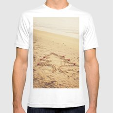 Merry Christmas! - Christmas at the beach SMALL White Mens Fitted Tee