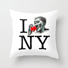 I Zombie Apocalypse New York Throw Pillow