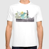 Surfs Up Mens Fitted Tee White SMALL