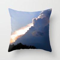 Clouds No.2   -  Sunset Throw Pillow
