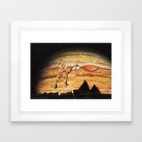 The Wild West Guide To The Galaxy Presents: The Unknown Rider Brave New World Framed Art Print