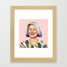 Hipstory - Hillary Clint… Framed Art Print