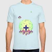 +. Mens Fitted Tee Light Blue SMALL