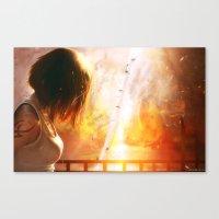 A Flaming Night Canvas Print