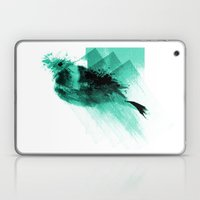 Splatter Bird Blue Laptop & iPad Skin