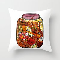 Preserved vegetables Throw Pillow