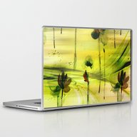 Dancing Flowers Abstract Laptop & iPad Skin
