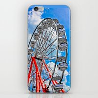 Red, White & Blue Ferris… iPhone & iPod Skin