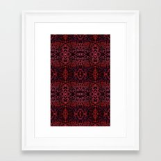 Electric Red Cubes  Framed Art Print