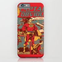 iPhone Cases featuring Captain Obvious! by Joshua Kemble