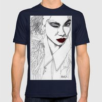 China Girl Mens Fitted Tee Navy SMALL