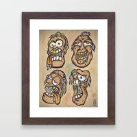 FOURHEADS ARE BETTER THAN ONE Framed Art Print