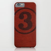 iPhone & iPod Case featuring number series: #3 by randy mckee