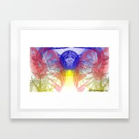 Spirited Fractal Framed Art Print